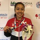 Tin-Tin Ho won individual bronze for England at the Commonwealth Championships in India (pic Table T