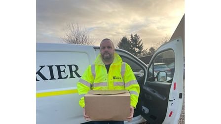 Jason Benham, Business Connector Lowestoft, heads out on a Pink Orange delivery.