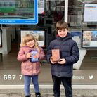 Children from Clockhouse Primary School picking up eggs from Collier Row estate agent