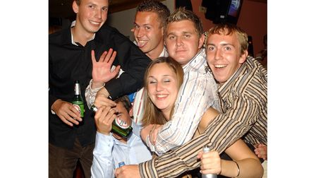 A group on a night out at Brannigans in Ipswich in 2003