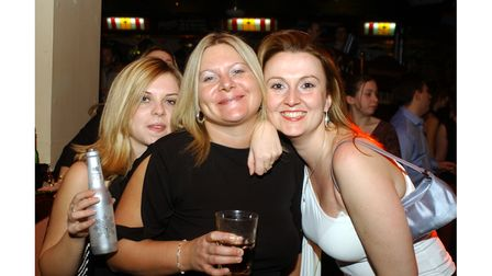 A group enjoying a night out at Brannigans in Ipswich in 2003