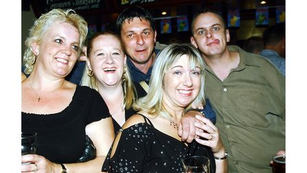 All smiles at Brannigans in Ipswich in 2003