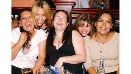 Smiling customers at Brannigans in Ipswich in 2003