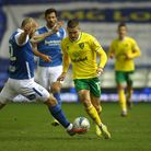 Emiliano Buendia of Norwich is fouled by Harlee Dean of Birmingham City during the Sky Bet Champions