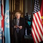 Prime Minister Boris Johnson chairs a session of the UN Security Council on climate and security at