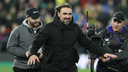 Norwich Head Coach Daniel Farke at the end of the Premier League match at Carrow Road, NorwichPict
