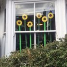 Residents of Burnham Road, St Albans have been revealing flower-based windows each day, comparing it to a spring-like advent calendar