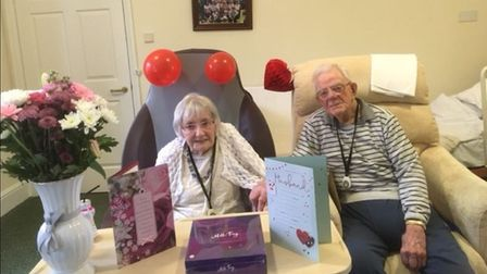 Tony and Sylvia Domett, aged 95 and 93 respectively.