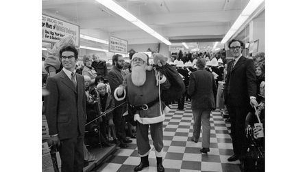 Memories of Father Christmas at Debenhams store in Ipswich