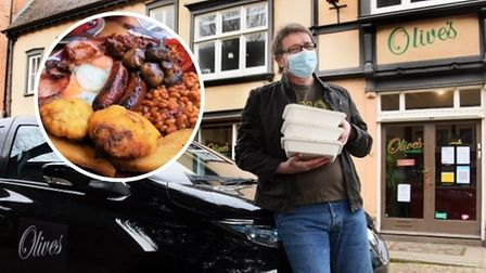 Olives in Elm Hillis now running its own cooked breakfast delivery service in Norwich, pictured is owner Mick Marsden.