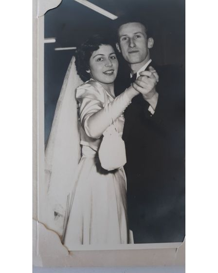 The couple's wedding day in 1951