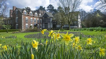 Rufford Old Hall in Spring