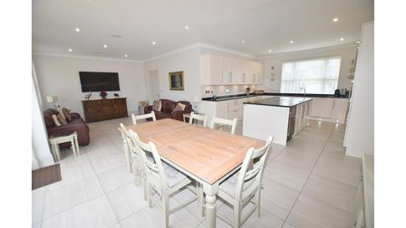 There is spacious open-plan accommodation at the property in Rushmere St Andrew