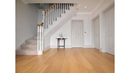 The hall and stairs at the home in Rushmere St Andrew near Ipswich