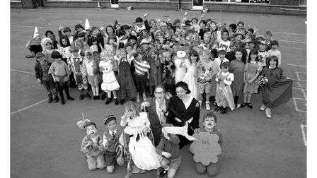 Book Week at Cliff Lane Primary School in Ipswich in April 1995