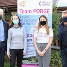 Steve and Cathy Walker, owners ofCollinson Hall, Isobel Dwyer ofRennie Grove and Tim Taylor from Team FORGE.