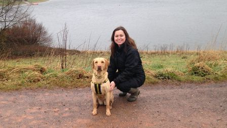 Amy Bingham, Supporter Relations Officer at Dogs Trust Ilfracombe and her dog Foxy
