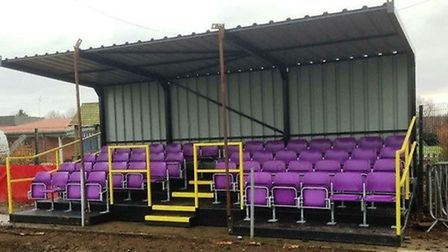 Wisbech St Mary FC stand