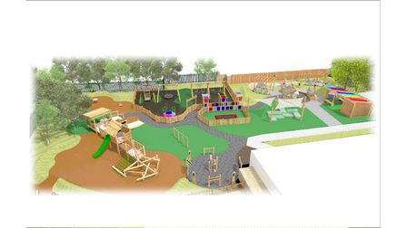 The Warren Associationand Timotay Playscapes' design concept for'A Special Playground for a Special School' in Lowestoft