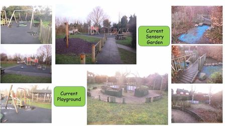 The current playground and sensory garden at the Lowestoft-area Warren School.