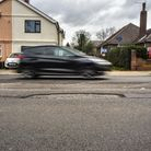 Potholes on Foxhall Road in Ipswich