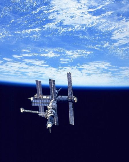 Russian Mir Space Station As Seen Alongside The Earth By The Us Space Shuttle (Photo By Nasa/Getty I  - gettyimages 51100480 1  - The man the Soviet Union left in space
