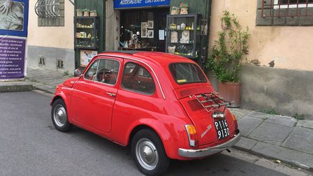 Italy's tiny medieval streets can only accommodate vehicles the size of the Fiat 500