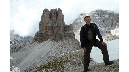 Picture of guest club speaker in mountains