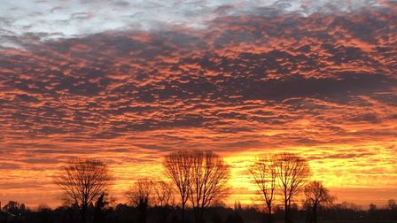 Mike Purse sent us this stunning image of a sunset in Brampton.