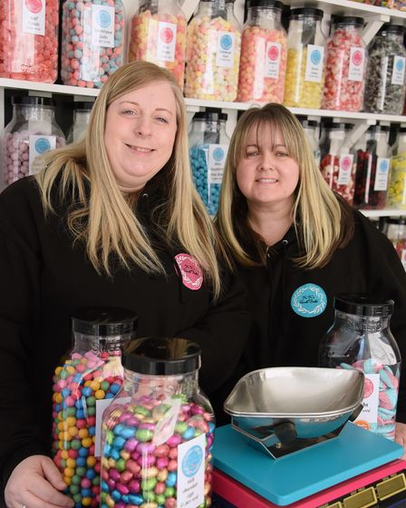 Kala Reeve, left, and Keeley Chaplin, who have opened KK's Sweet Treats in Lowestoft. Picture: DENIS