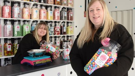 Kala Reeve, right, and Keeley Chaplin, who have opened KK's Sweet Treats in Lowestoft. Picture: DENI
