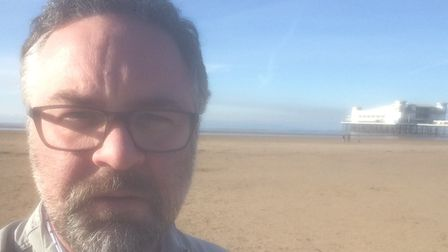 Lee Power on a lunchtime walk in Weston-super-Mare