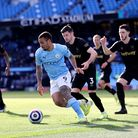 Manchester City's Gabriel Jesus during the Premier League match at the Etihad Stadium, Manchester. P