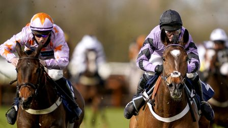 Fable ridden by Nico de Boinville (right) at Huntingdon