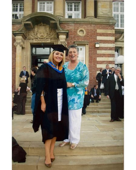 Rochelle and Shirley Bugg at Rochelle's graduation in 2007.