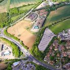 Aerial view of North Road in Stevenage
