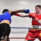 Islington Boxing Club fighter Connor Daly in action