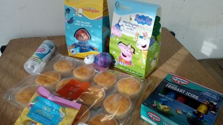 Every pack will include plain fairy cakes, coloured icing and decorating materials.