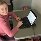 Hatfield pupil Olivia has been enjoying her laptop loan from Affinity Water