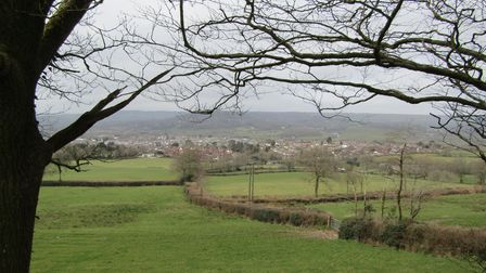 View over Honiton from Cuckoo Down Hill