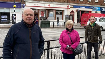 MP Iain Duncan Smith and South Woodford councillors Sue Nolan and Michael Duffell got the post office to commit to having...