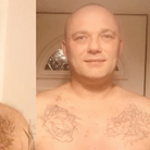 Cllr James Clayton before and after his shave