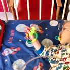 Lucas enjoys his music therapy
