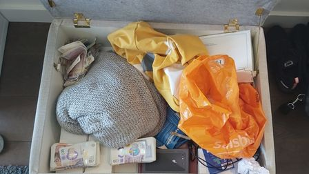 Cash and drugs seized from Dylan Richardson
