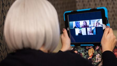 People are getting used to keeping in touch from afar during lockdown. Picture: Dominic Lipinski/PA