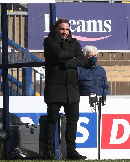 Norwich Head Coach Daniel Farke during the Sky Bet Championship match at Adams Park, High Wycombe P