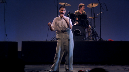 Talking Heads' David Byrne in Stop Making Sense, which can be seen as part of Cambridge Film Festival at Home's 'A Film I Love...' series.