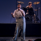 Talking Heads' David Byrne in Stop Making Sense, which can be seen as part of Cambridge Film Festival at Home's 'A Film I...