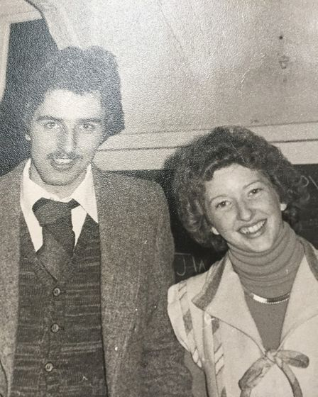 Stuart and Daphne King in a black and white picture