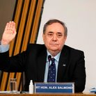 Former Scottish National Party leader and former First Minister of Scotland, Alex Salmond is sworn i